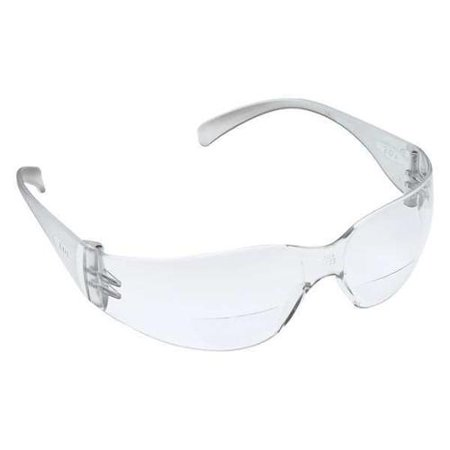 Anti Fog Safety Glasses - 3M 11514-00000-20 Safety Reader Glasses, +2.0, Clear, Antifog