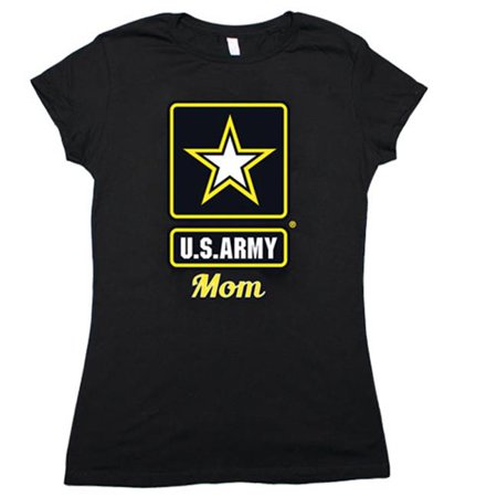 Women In The Army (Fox Outdoor 64-0919 L Womens Army Star Mom Imprint Cotton Tee - Black,)
