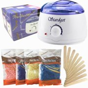 Stardget Wax Warmer Hair Removal Kit with Hard Wax Beans and Wax Applicator Sticks