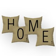 Checkerboard, Ltd Letters of Home Throw Pillow (Set of 4)
