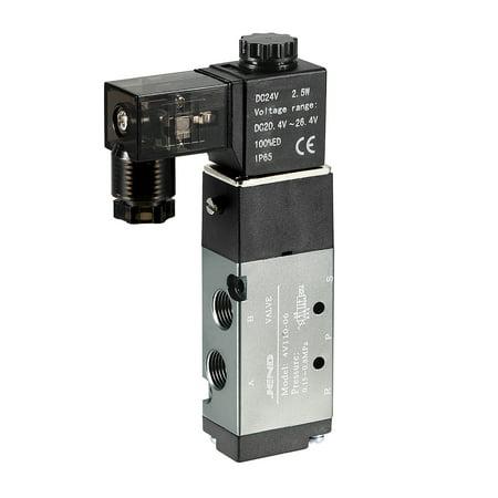 4V110-06 Pneumatic Single Electrical Solenoid Valve DC 24V 5 Way 2 Position 1/8