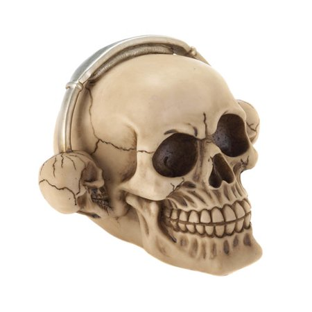 Zingz & Thingz Rockin Headphone Skull Figurine - A Rockin Halloween Mp3