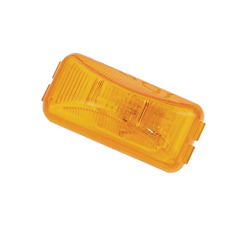 Pilot Automotive NV-5027A 12 Volt Rectangler Side Marker / Reflector-Amber Size: 2-1/2  x 1-1/4 x 7/8