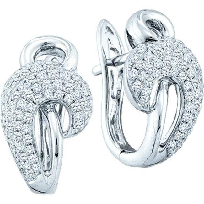 Gold and Diamonds E3A108-W 0. 76CT-DIA FASHION EARRING- Size 7
