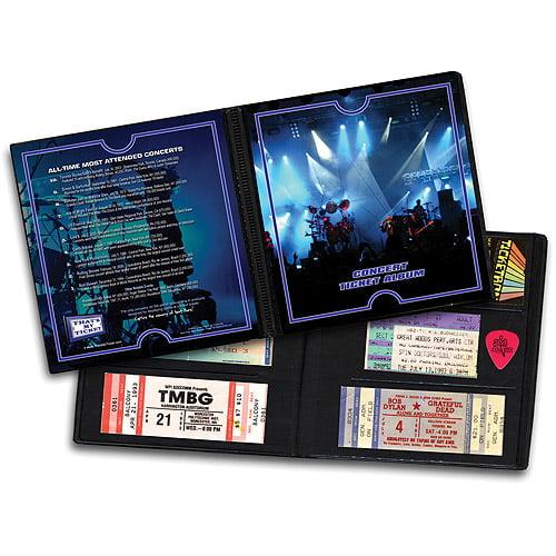 Ticket Album Concerts - Rock Theme (Holds 96 Ticke