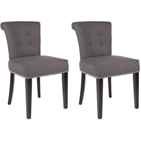 Safavieh Sinclair 21 H Ring Chair Set Of 2 Silver Nail Heads
