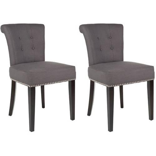 """Safavieh Sinclair 21""""H Ring Chair (Set Of 2) - Silver Nail Heads"""
