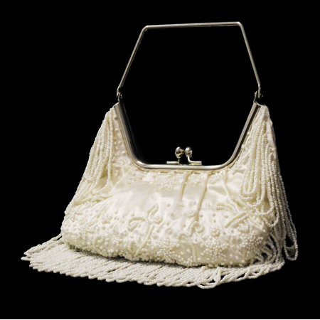 Stylish Ivory Women Shoulder Bag - Elegant Beaded Sequin Design PS3150IVORY - Beaded Purse Designs