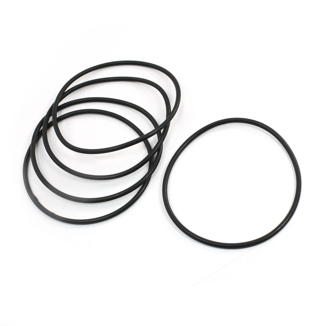 Unique Bargains 5pcs Flexible Rubber O Ring Seal Washer Replacement Black 110mm x 4mm