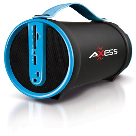 Axess portable bluetooth 2 1 hi fi cylinder speaker w sd for Mobile porta hi fi