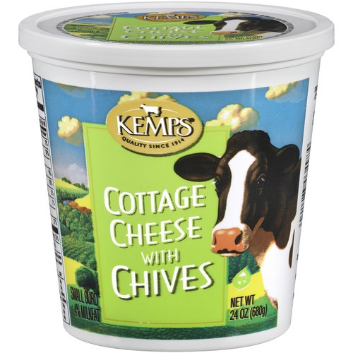 Kemps Cottage Cheese with Chives, 24 oz