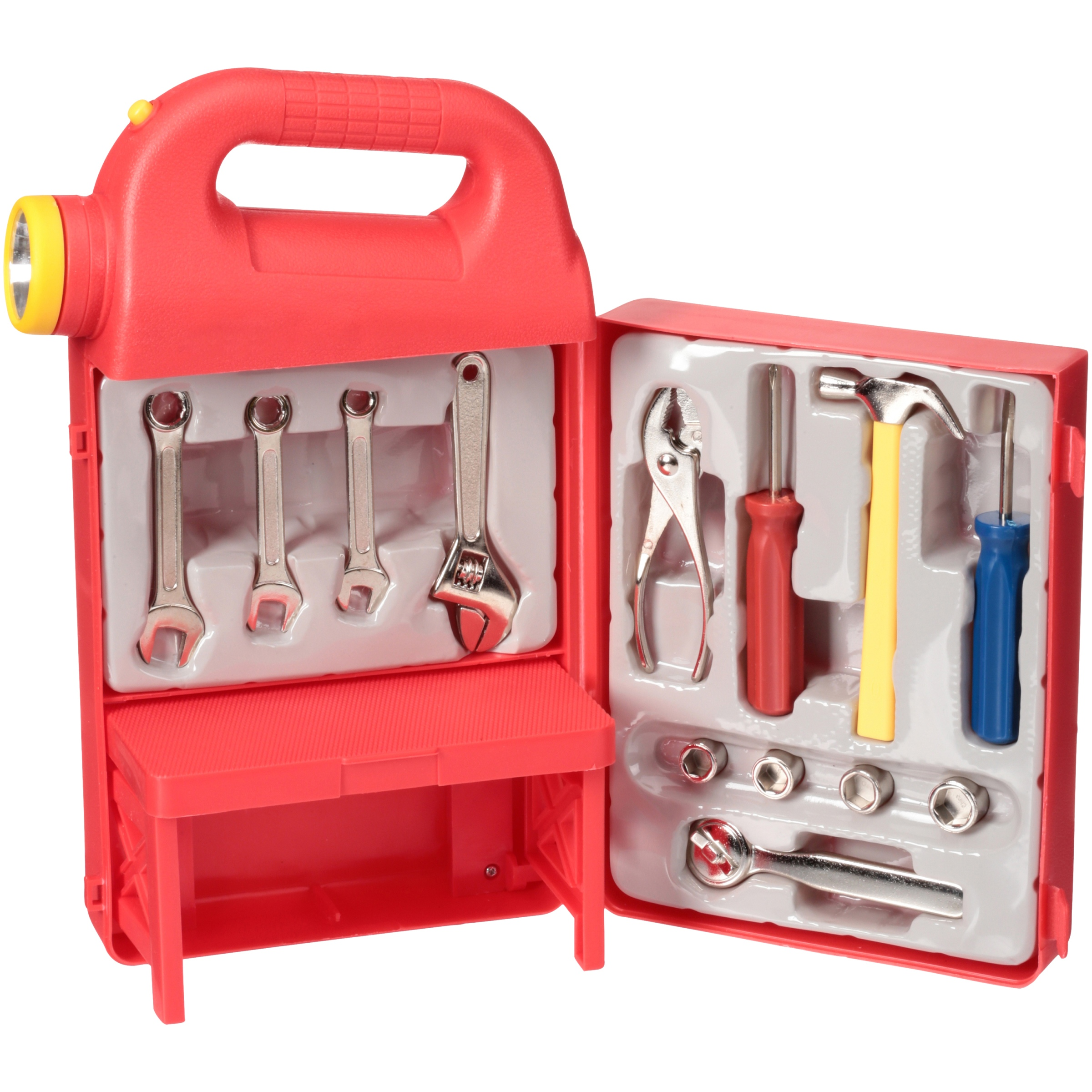 Mighty Wheels® Lite-Up Tool Box with Die Cast Tools 13 pc Box