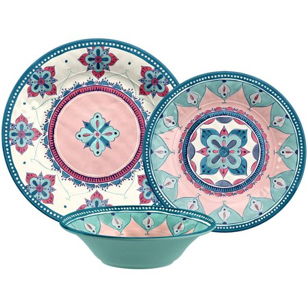 Better homes gardens 12 piece boho dinnerware set - Better homes and gardens dish sets ...