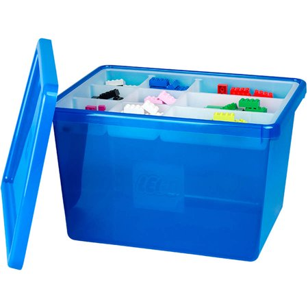 Lego Storage Box Large With Lid Blue