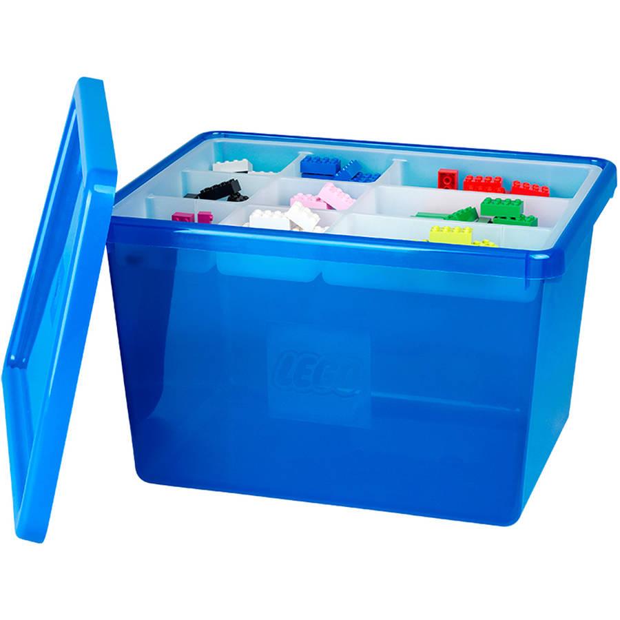LEGO Storage Box Large with Lid, Blue - Walmart.com