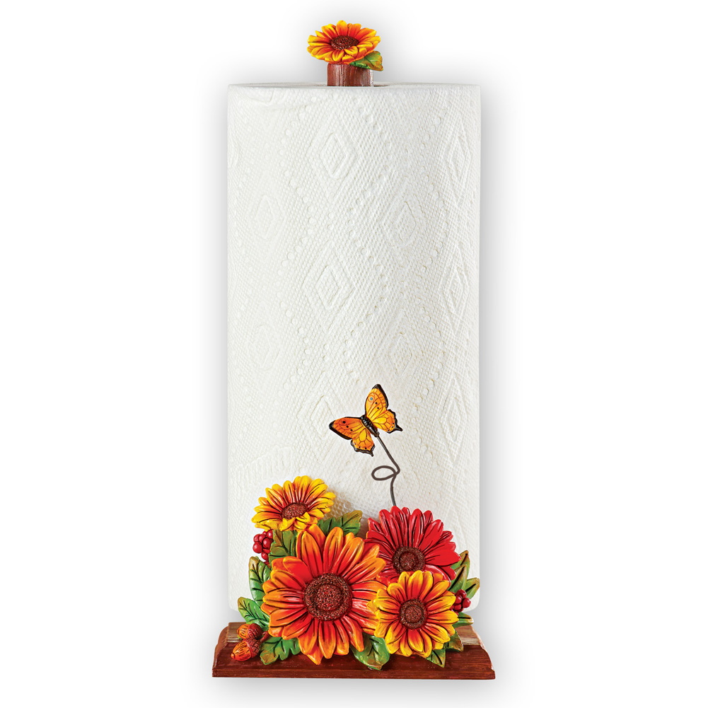 Kitchen Accessories Walmart: Unique Sunflower Kitchen Decor Single Roll Paper Towel