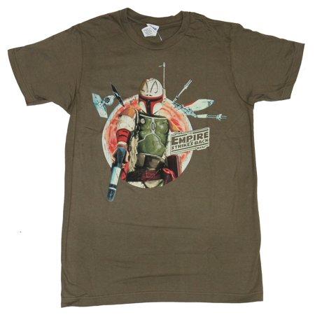 Star Wars Mens T-Shirt - Fancy Boba Fett in Empir Strikes Back Circle