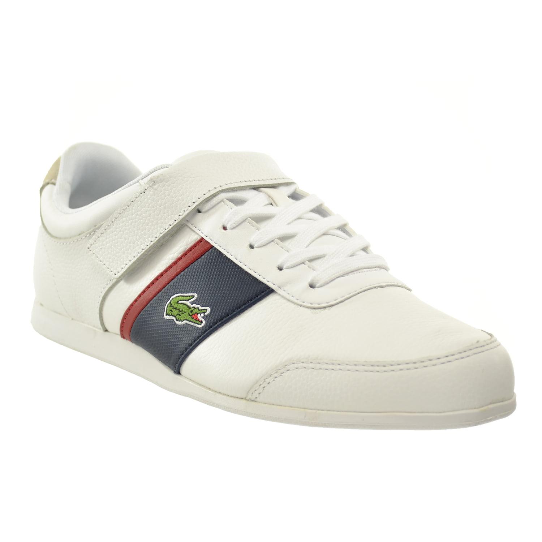 3922bfc2d5ab3a Lacoste Embrun URS SPM Leather Synthetic Men s Shoes White Dark Blue 7- 29spm2020-x96 - Walmart.com