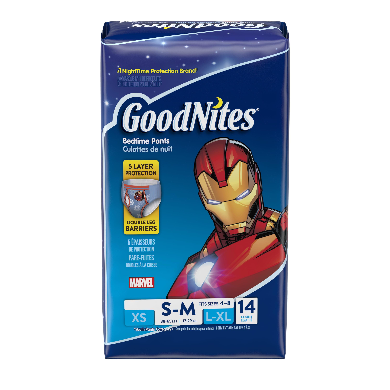 GoodNites Boys' Bedtime Underwear, Jumbo Pack, (Choose Your Size)