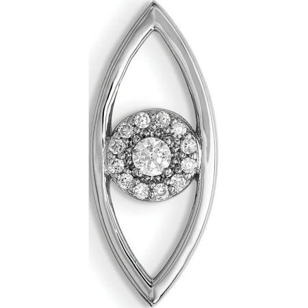 Leslies Fine Jewelry Designer 14k White Gold Small Evil Eye Mounting Pendant Gift Designer Evil Eye