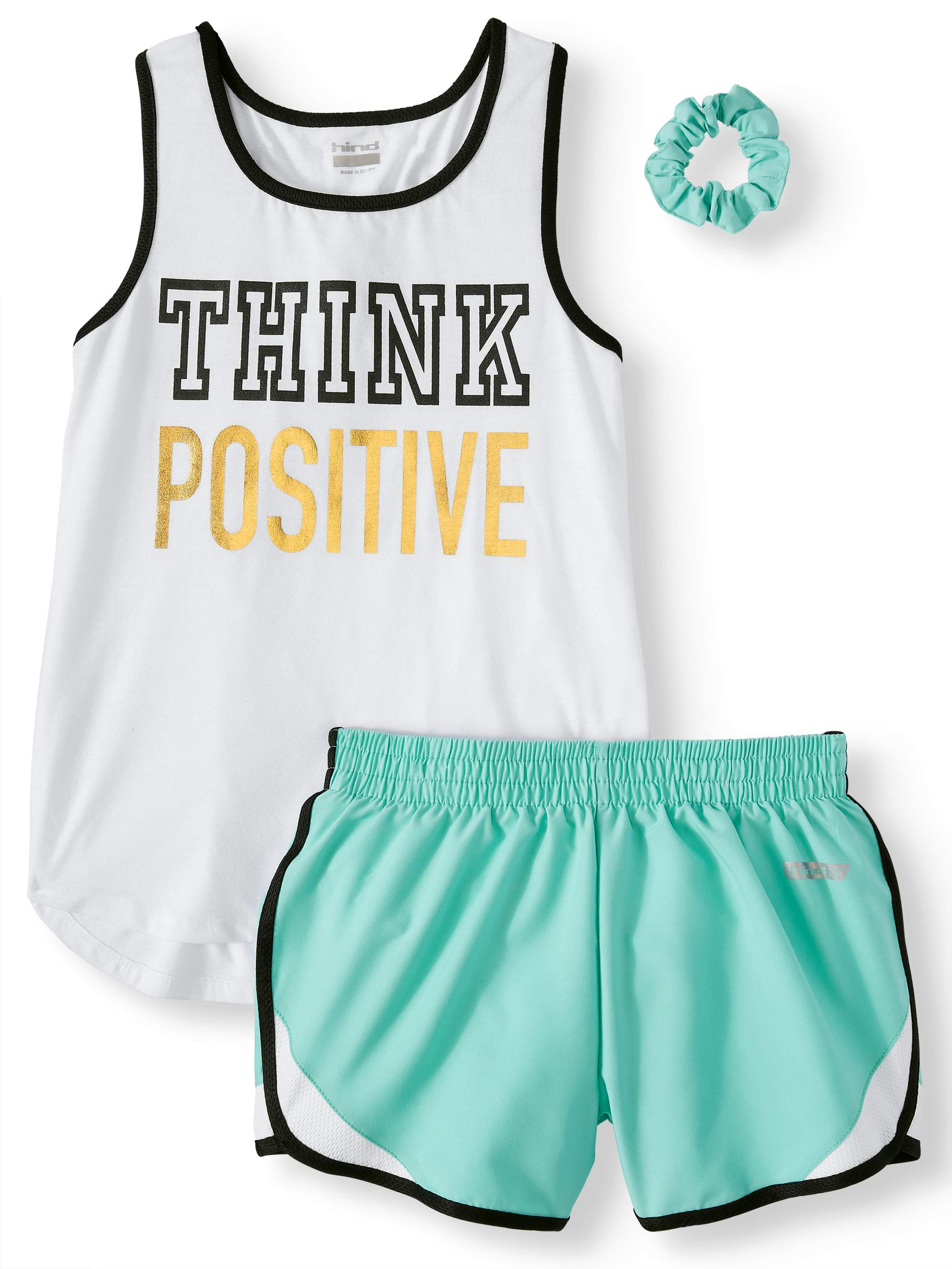 Racerback Graphic Tank and Short, 2-Piece Active Set (Little Girls & Big Girls)