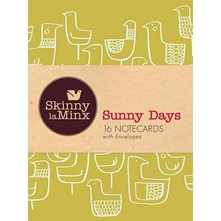 Sunny Days Notecard Set (Skinny LaMinx) : 16 Notecards with Envelopes