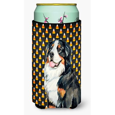 Bernese Mountain Dog Candy Corn Halloween Portrait Ultra Beverage Insulators for slim cans - Bernese Mountain Dog Costume Halloween