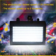 AC90-240V 35W 180 LED Strobe Flash Stage Light High Power Laser Lamp, Auto Sound Activated Adjustable Flash Speed Control, Projector Club Disco KTV DJ Bar House Party Effect Lamp