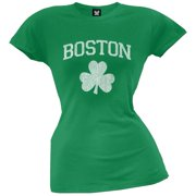 St. Patrick's Day - Boston Shamrock Juniors T-Shirt - X-Large