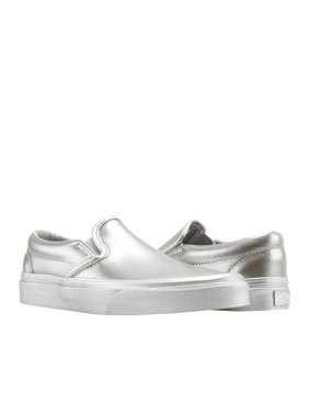 a8ca8646d2 Product Image Vans Classic Slip On Metallic Sidewall Silver Low Top  Sneakers VN0A38F7QTV