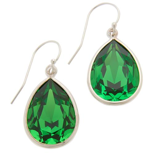 Collection Fern Green Dangling Earrings Created with Swarovski�� Crystals