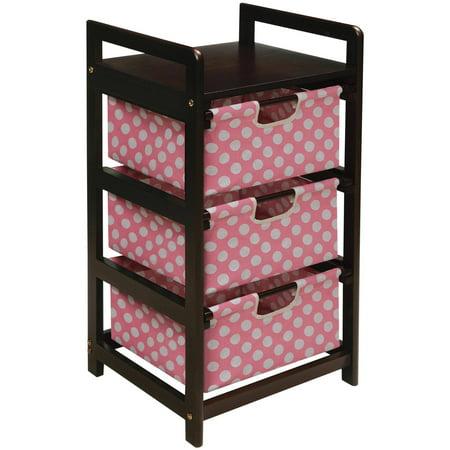 Badger Basket 3-Drawer Hamper/Storage Unit, Espresso Finish with ...