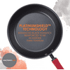 Rachael Ray Create Delicious Hard-Anodized Aluminum Nonstick Cookware Set, 11-Piece, Red Handles