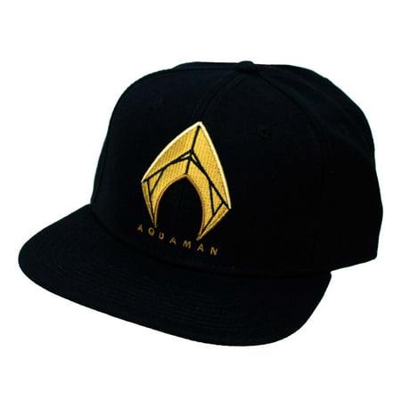 Aquaman Embroidered Logo Snapback Hat - Aquaman Accessories