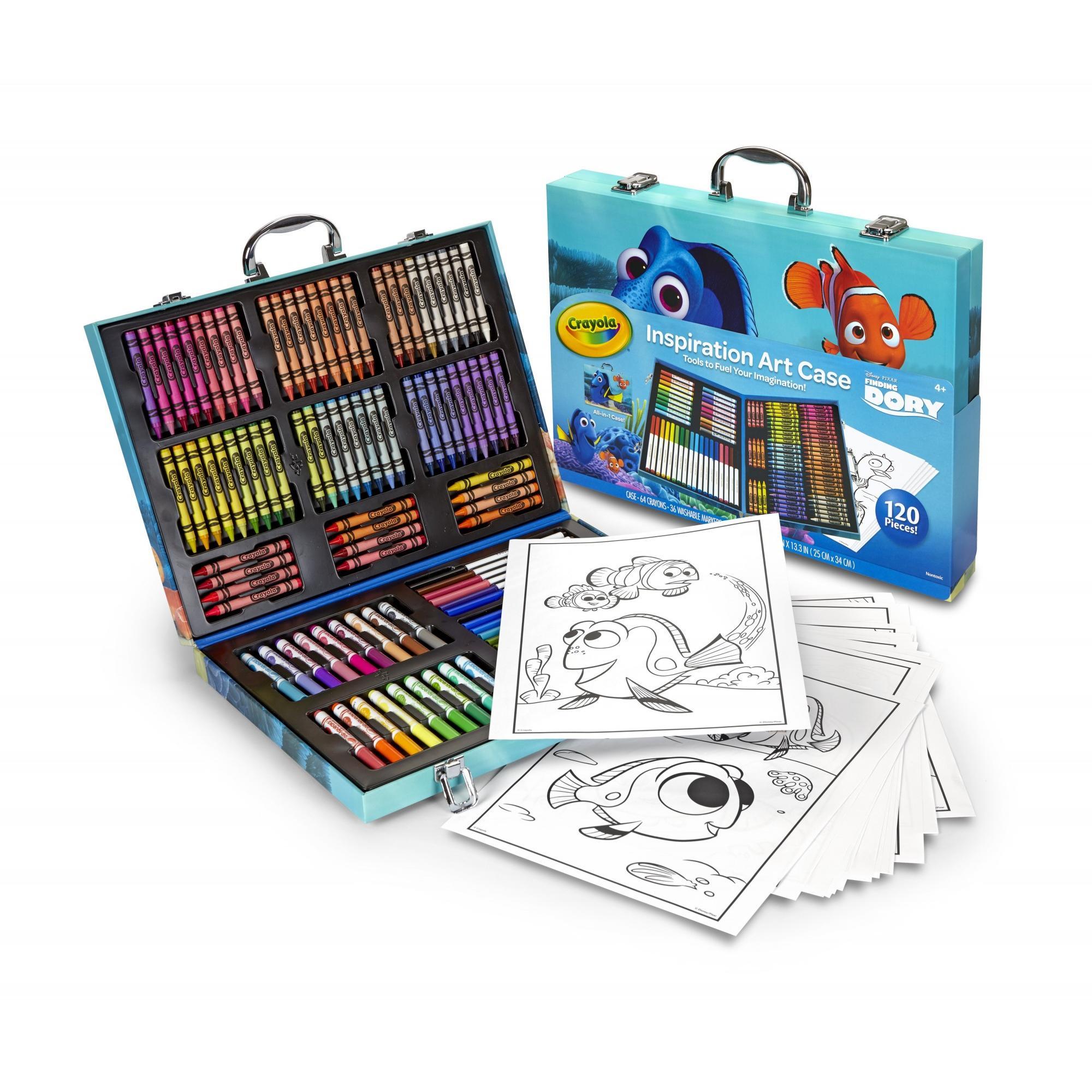 Crayola Inspiration Art Case, Disney Finding Dory, 120 Pieces, Walmart Exclusive