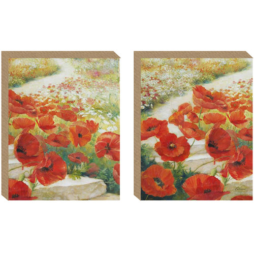 Nielsen Bainbridge Pinnacle Path of Poppies 2 Piece Painting Print on Canvas Set