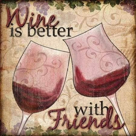 Wine With Friends II Poster Print by Jen Killeen](Home Depot Killeen Tx)