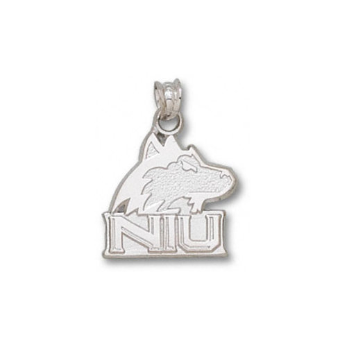 NCAA - Northern Illinois Huskies Sterling Silver ''NIU'' Huskie Logo 5/8'' Pendant