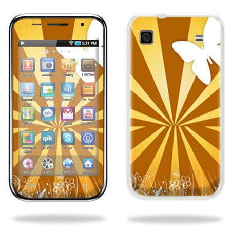 Skin Decal Wrap cover for Samsung Galaxy 4.0 MP3 Brown Butterfly Mp3 Accessories Set