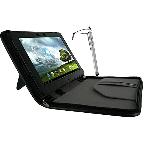 rooCASE Executive Leather Case w/ Stylus for Asus Transformer Pad Infinity TF700T