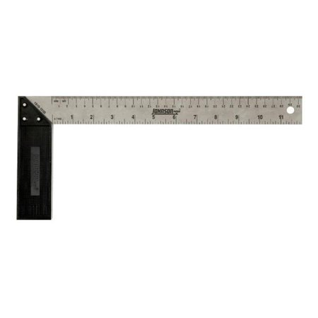 Johnson Level 1910-1200 12 in. Metric Structo-Cast Try & Mitre Square