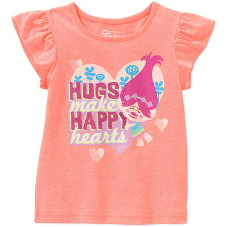 Trolls Toddler Girls' Flutter Sleeve Love T-Shirt
