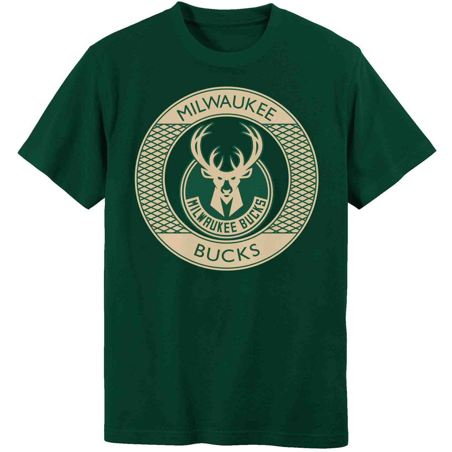 NBA Milwaukee Bucks Grey Youth Team Short Sleeve Tee
