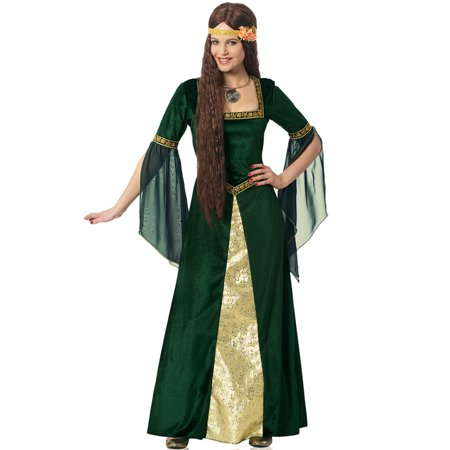 Emerald Renaissance Lady Adult Costume (Emerald Costume)