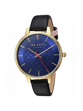 Women's Watch Black Leather Bracelet With Blue Dial TEC0025016