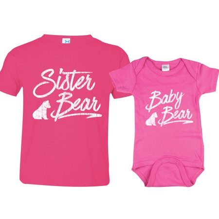 377a1e76389c Texas Tees Brand  Sister Bear Shirt Baby Bear Bodysuit Matching Shirts