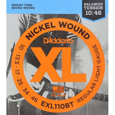 - EXL110BT Nickel Wound Electric Guitar Strings, Balanced Tension Regular Light, 10-46, Balanced Tension sets allow the player to apply the same.., By D'Addario