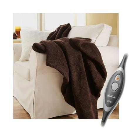 Electric Throw Blanket Walmart Adorable Sunbeam Oversized Sherpa Heated Electric Throw Blanket With