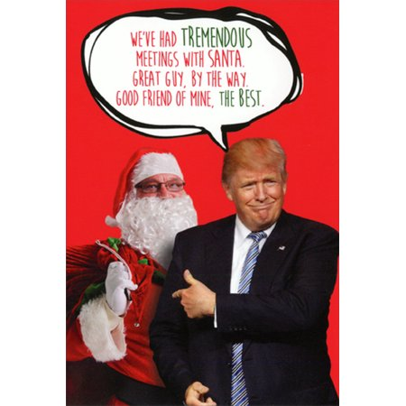 Christmas Trump Funny.Nobleworks Trump Meetings With Santa Box Of 12 Humorous Funny Political Christmas Cards
