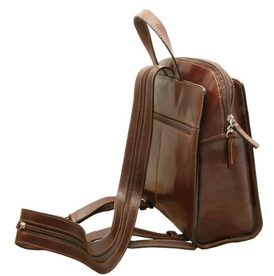Napoli Leather Zip Around Ladies Backpack